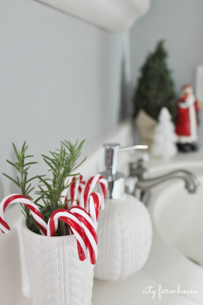 City FArmhouse Holiday Tour-Boys Bath Festive & Fun Touches