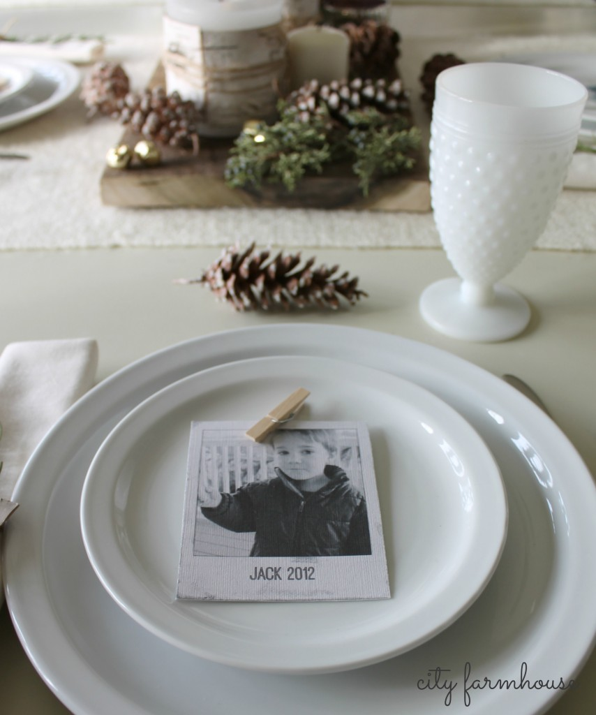 City Farmhouse-25 Days of Christmas- 1 projects=3 meaninful uses{place settings}