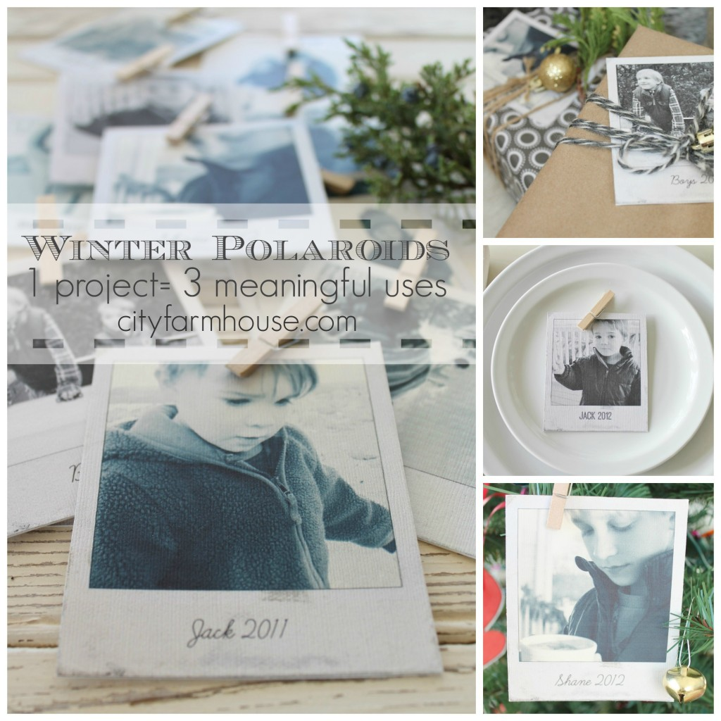 City Farmhouse-25 Days of Christmas_Winter Polaroids{1 project=3 Meaningful Uses} Collage