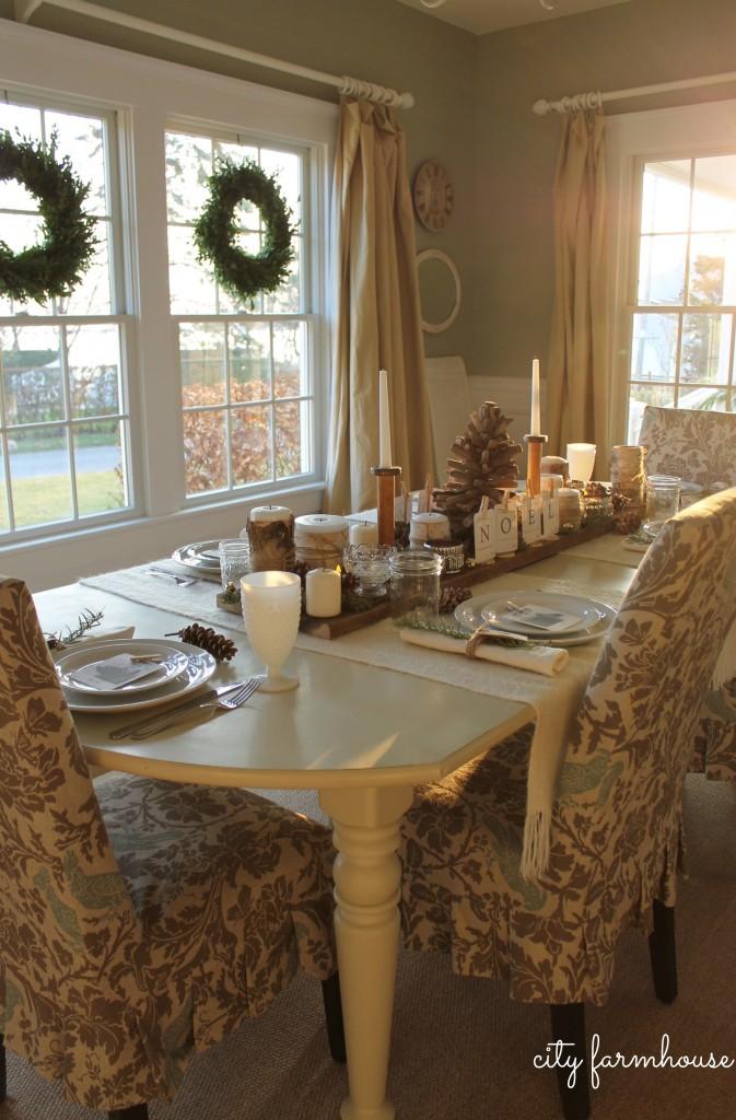 City Farmhouse Dining Room Holiday Housewalk 2013