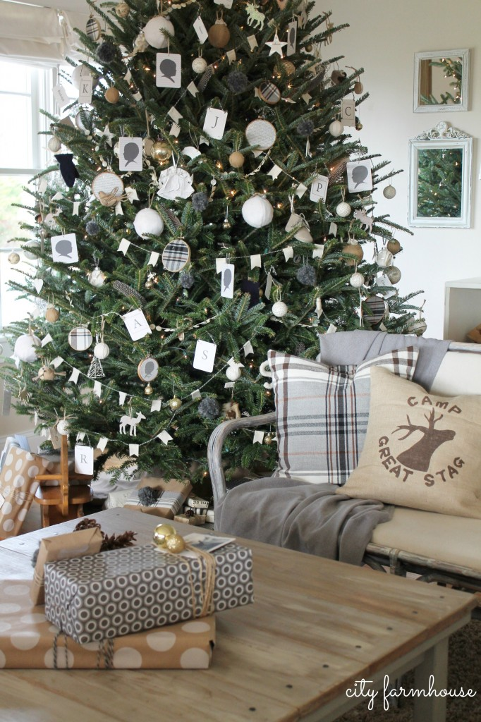 City Farmhouse Family Room Holiday Tour-Pillow by The Nest