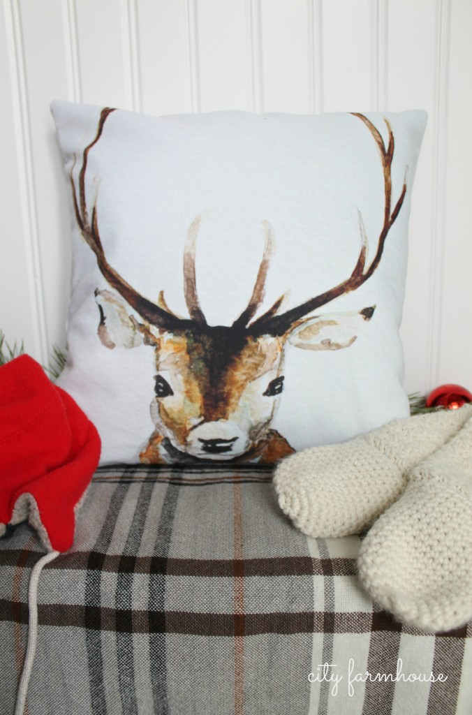 City Farmhouse (Farmhouse Christmas)  Mudroom-Pillow from Craftberry Bush via Society Six