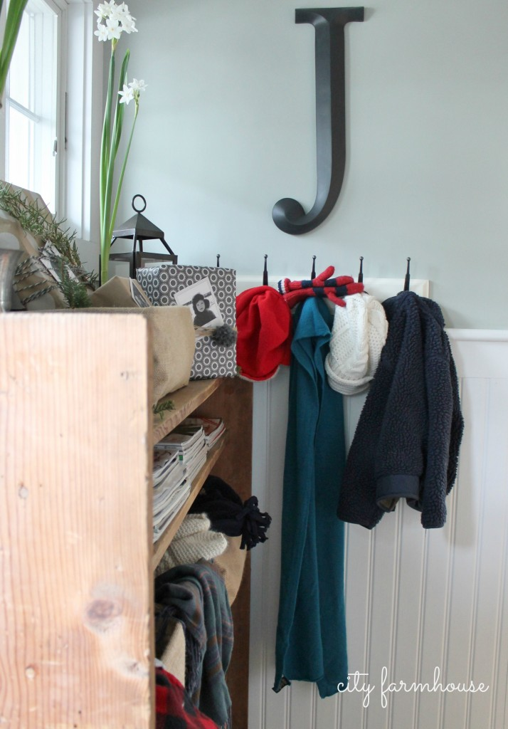 City Farmhouse (Farmhouse Christmas)  Mudroom & REal Life Storage