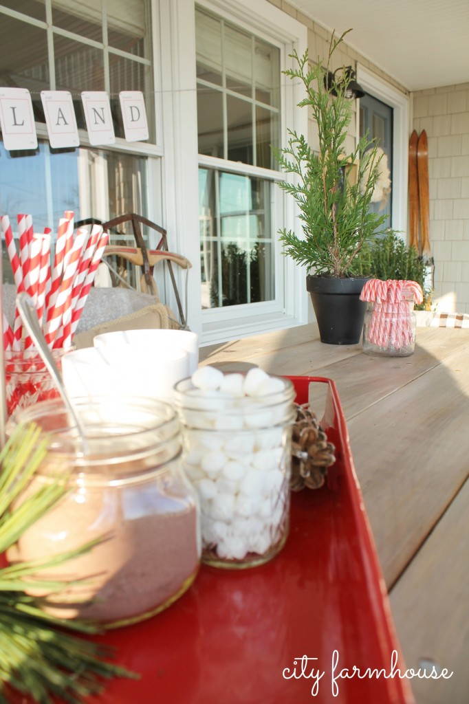 City Farmhouse Front POrch Holiday Housewalk 2013-Rustic Glam