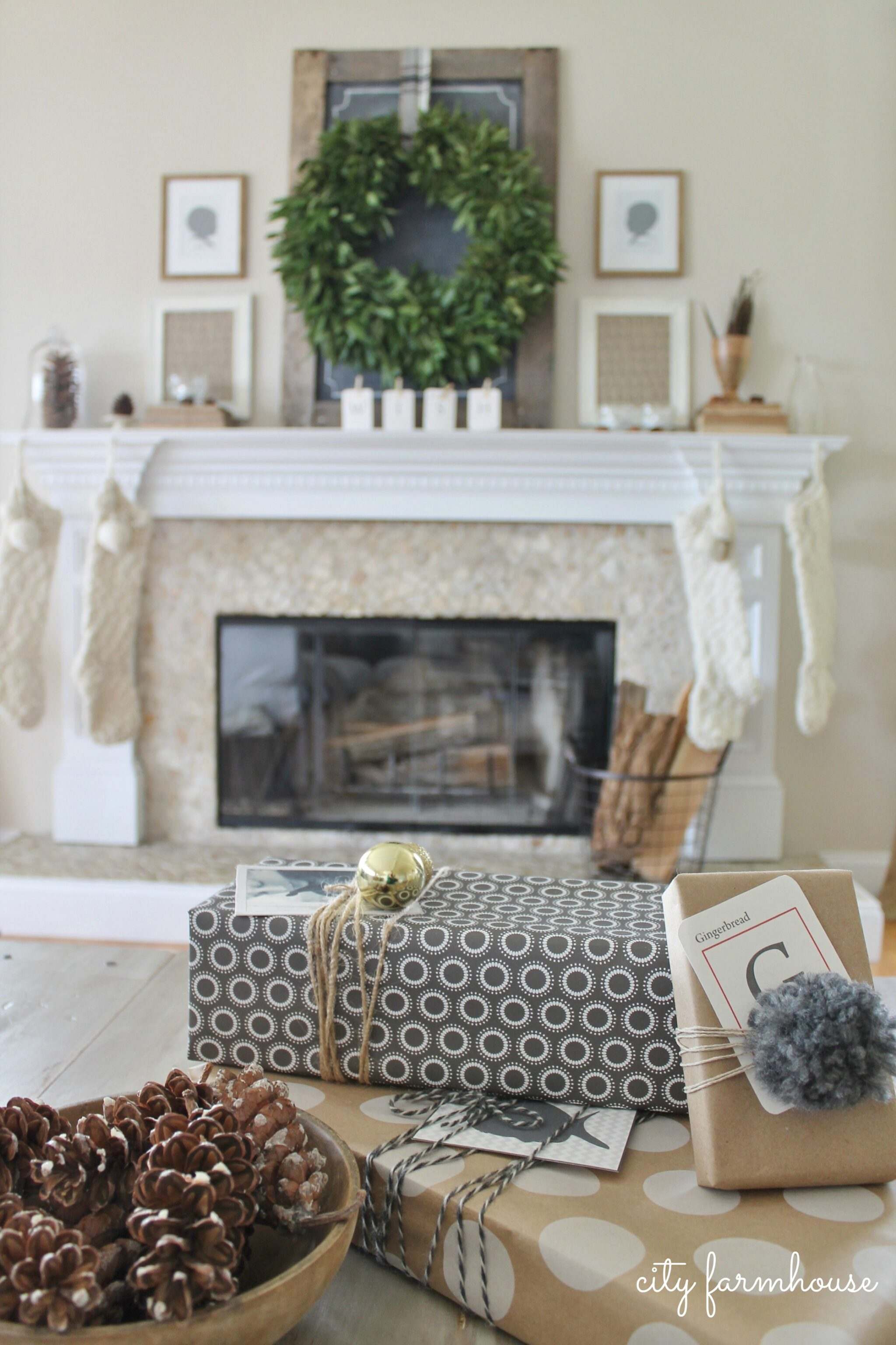 Farmhouse Decor For Living Rooms: Holiday House Tour 2013
