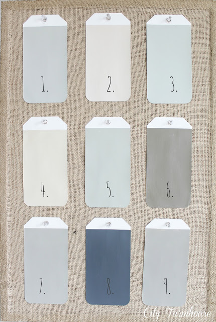 City Farmhouse Paint Colors & Keeping Them Organized