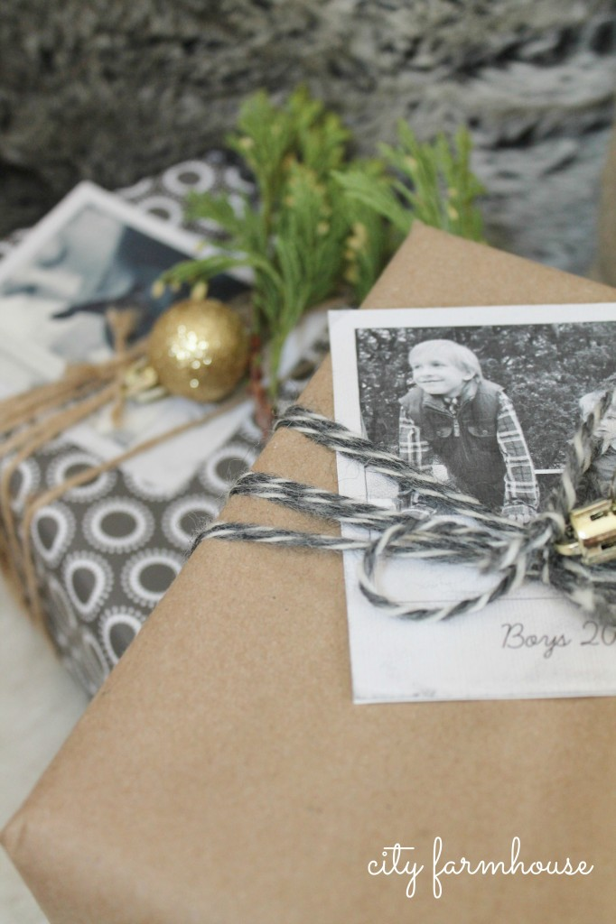 City Farmhouse diy photo gift tags-Holiday Tour 2013