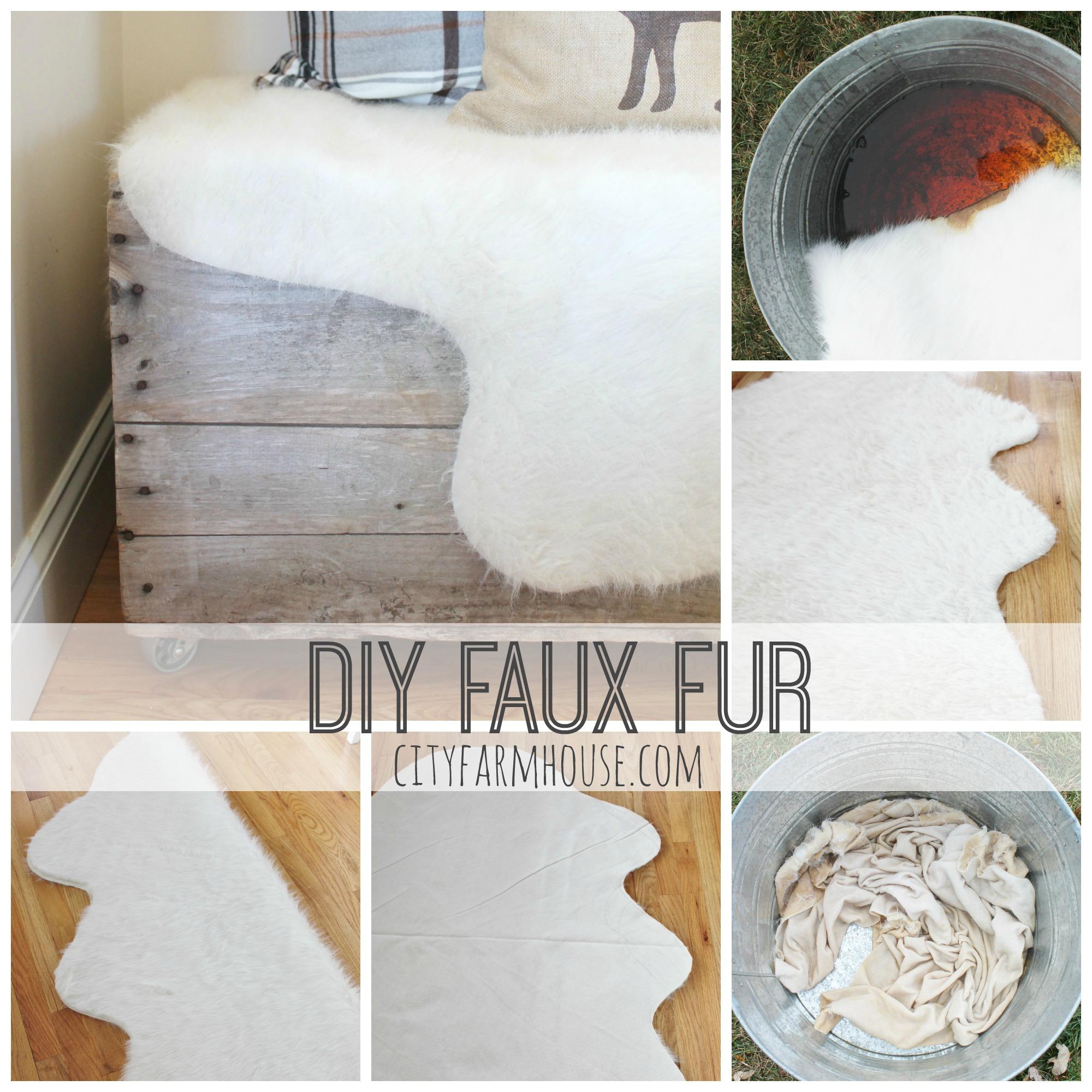 Easy DIY Faux Fur Rug Fa La La Free Printable City Farmhouse