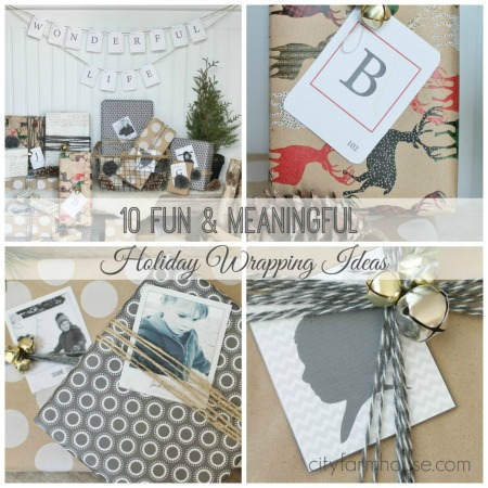 10 Fun + Meaningful Holiday Wrapping Ideas