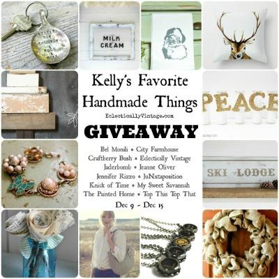 Kelly's Favorite Handmade Things Giveaway {12 handmade things – 12 winners}