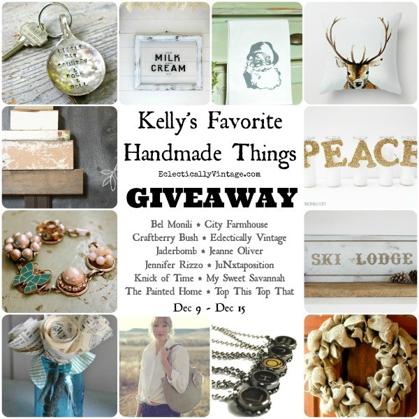 Kelly's Favorite Handmade Things Giveaway!  eclecticallyvintage.com