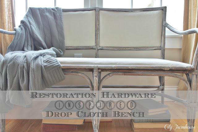 Restoration Hardware Inspired Bench City Farmhouse