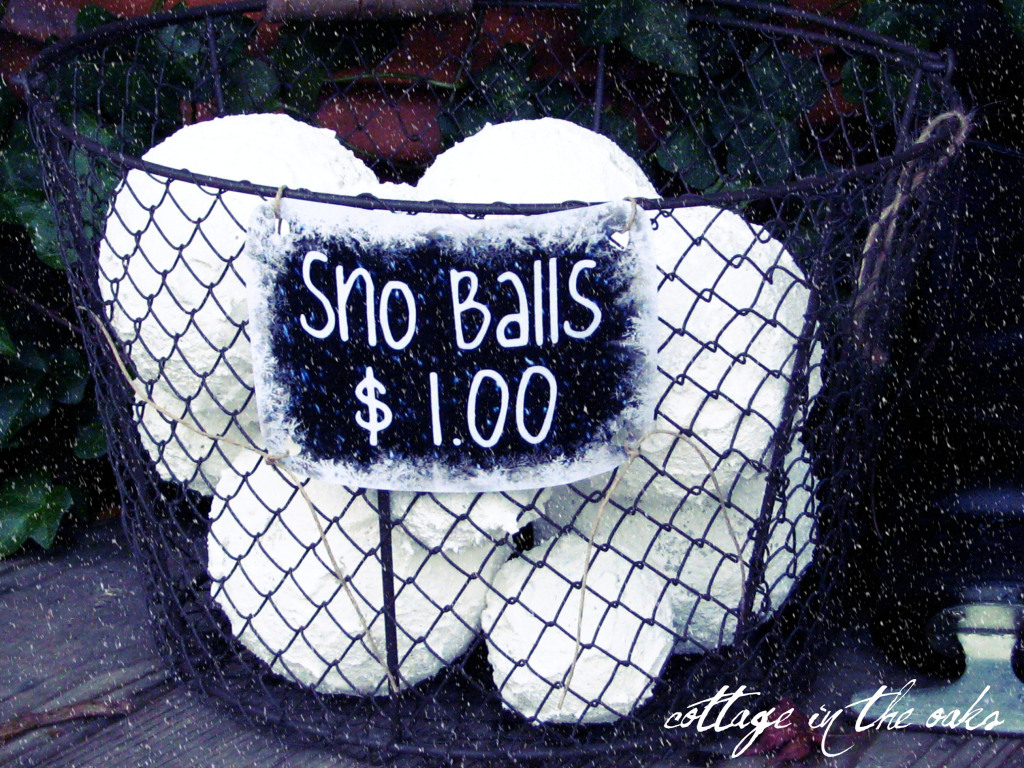 Make your own snowballs….how-to with free printable