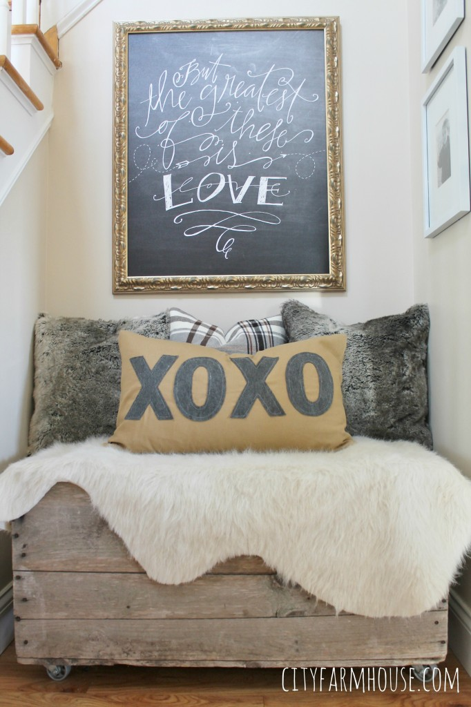 Anthropologie Inspired Pillow XOXO- Lindsay Letters Canvas Sign- City Farmhouse
