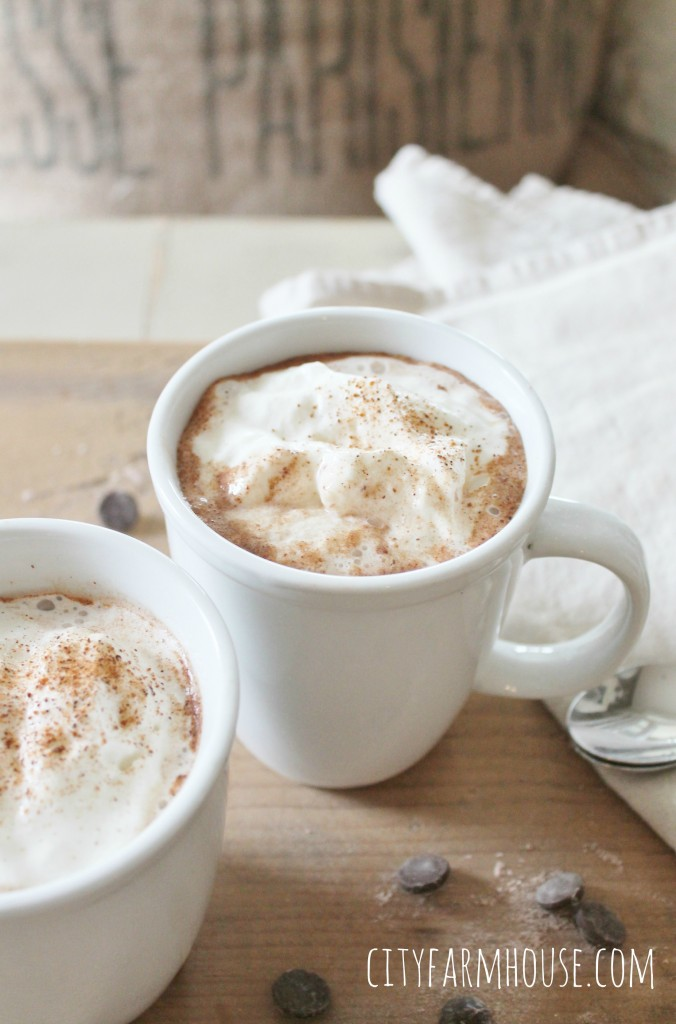 DIY Spiced Dark Hot Chocolate-Amazing Winter Drink, perfect for those cold winter days-City Farmhouse