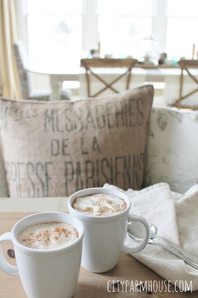 Homeade Spiced Dark Hot Chocolate-Perfect Winter Drink-City Farmhouse