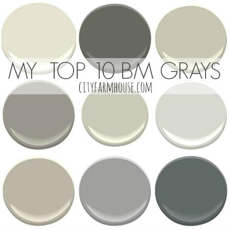 Top 10 Favorite Benjamin Moore Grays-City Farmhouse feature