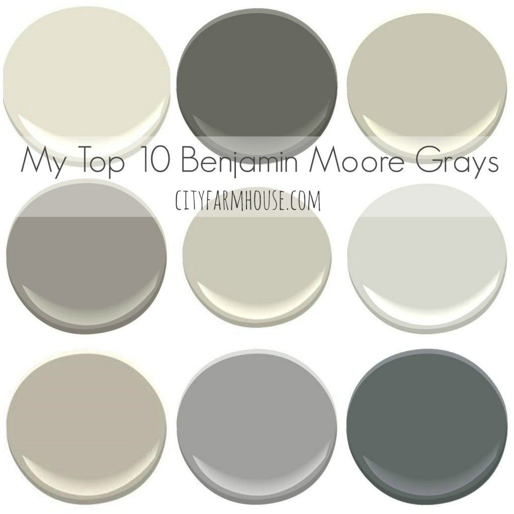 My top 10 benjamin moore grays city farmhouse for Rich neutral paint colors