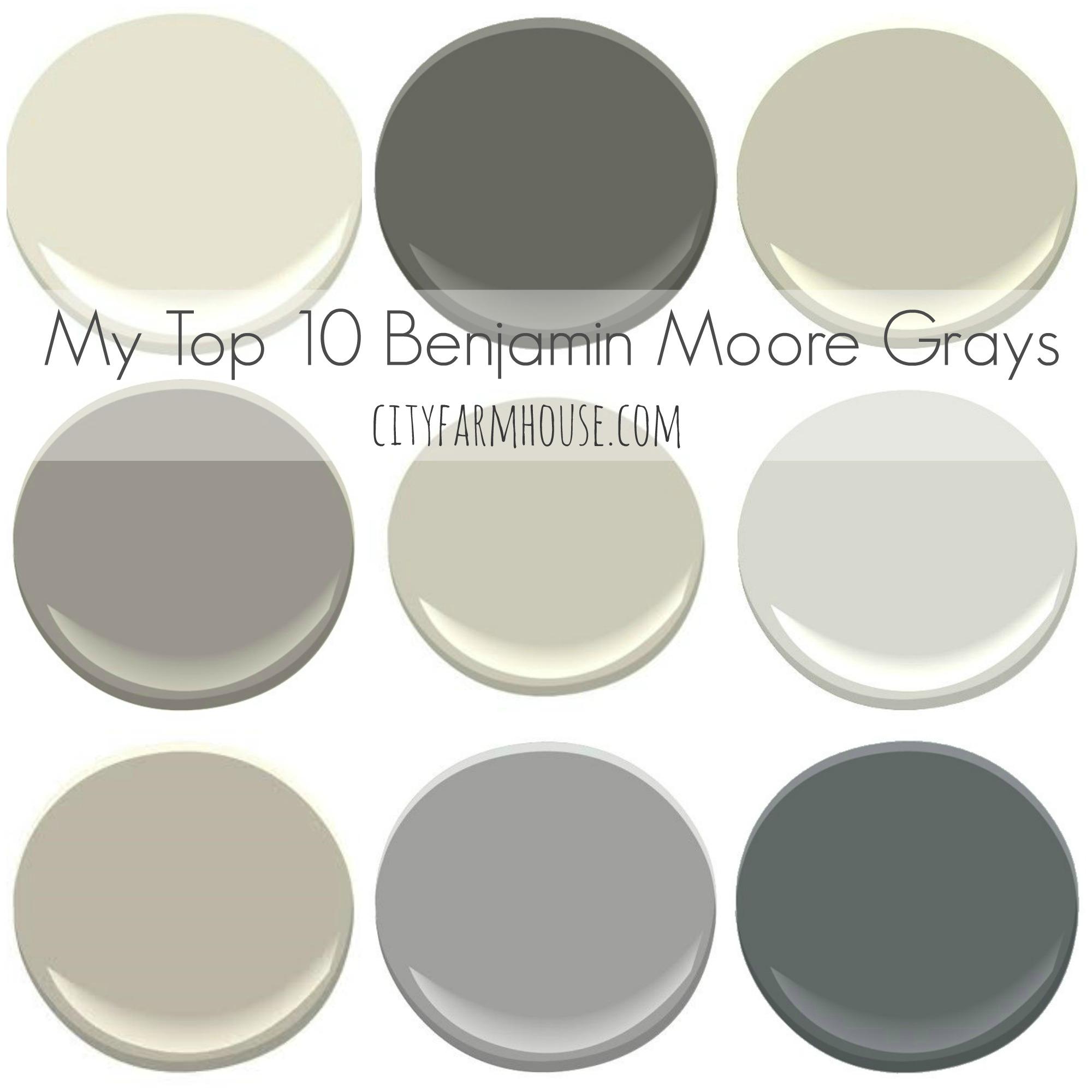Top 10 Favorite Benjamin Moore Grays City Farmhouse