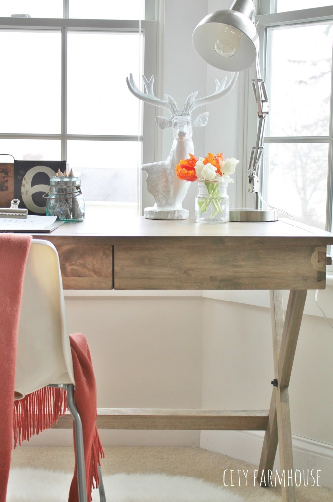 Campiagn Desk-Cost Plus {Getting the Look for Less} City Farmhouse