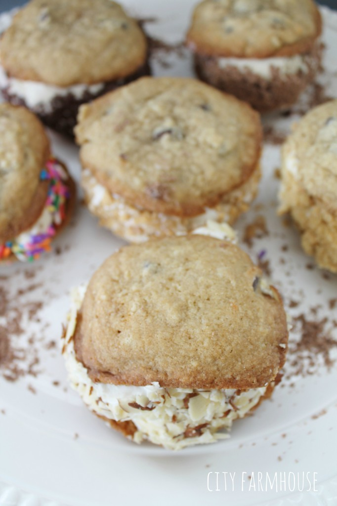 Ice Cream Cookie Sandwich Bar, Perfect For Party, Pick Your Ice Cream & Toppings