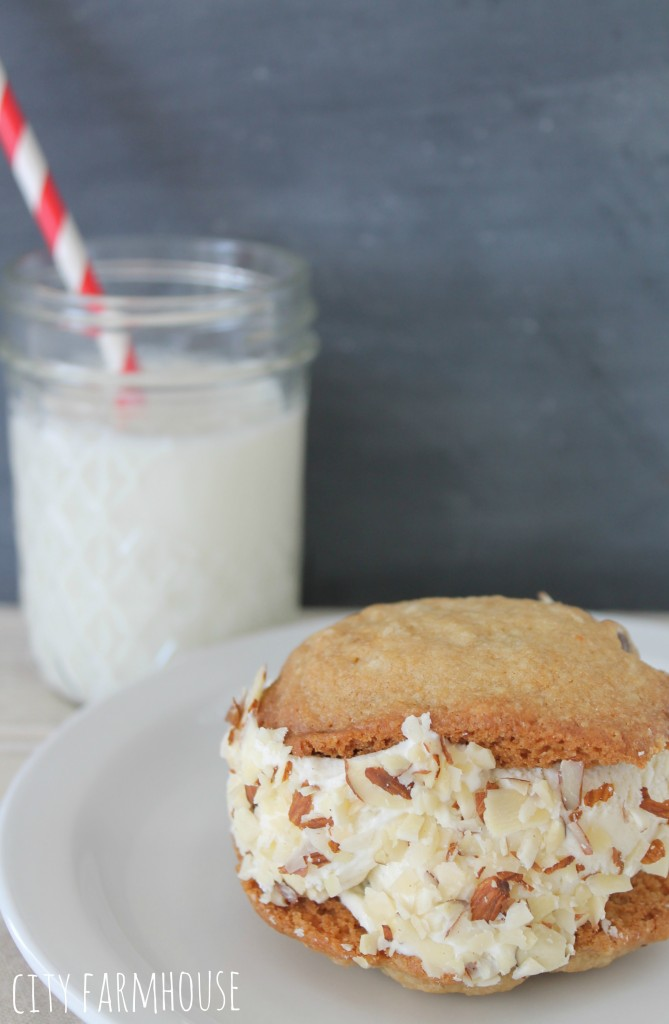 Ice Cream Cookie Sandwiches, so easy & fun for everyone! Garish with your favorite toppings
