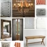 Master Bedroom Design Plan {Grays, Neutrals & Persimmon}