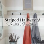 Striped Hallway & Free Love Printable