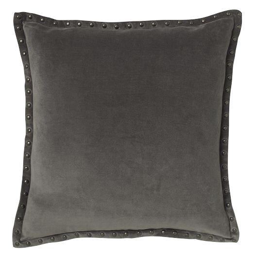 Studded Velvet Pillow WEst Elm