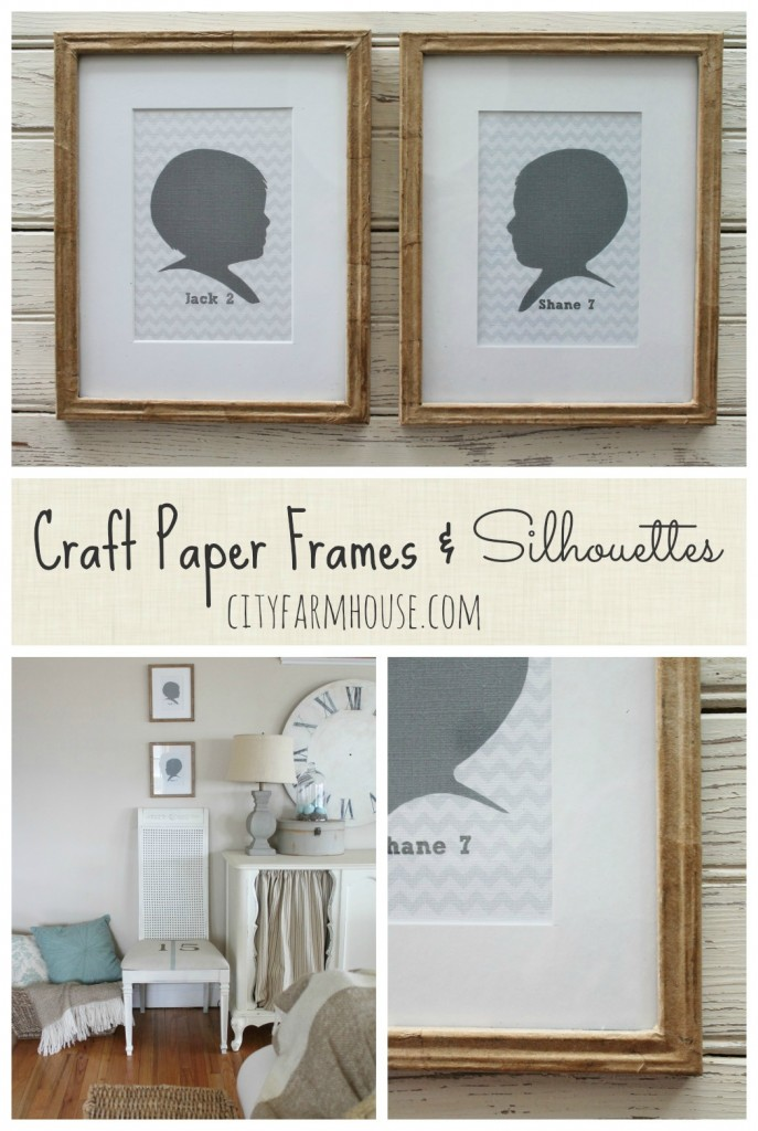 Craft Paper Frames & Silhouettes {City Farmhouse}