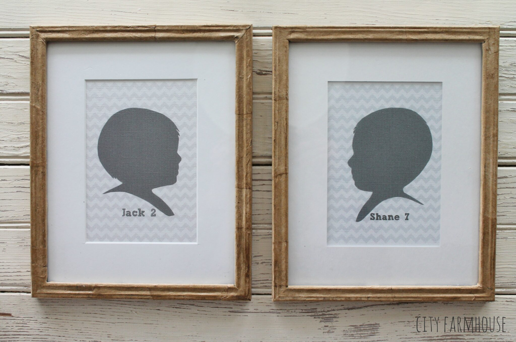 DIY Craft Paper Frames, Silhouettes & Family - City Farmhouse
