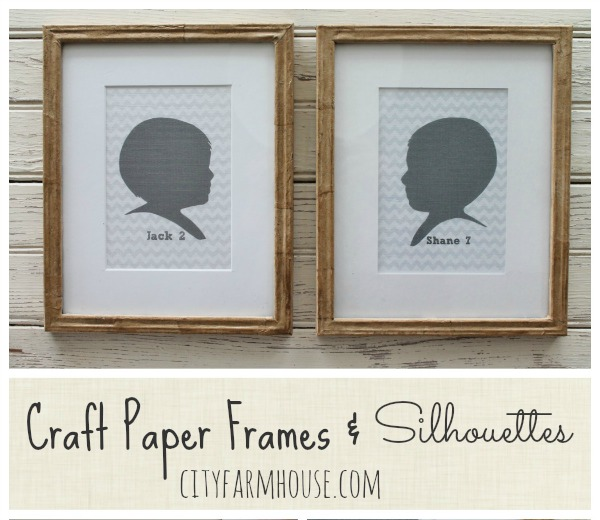 DIY Craft Paper Frames, Silhouettes & Family