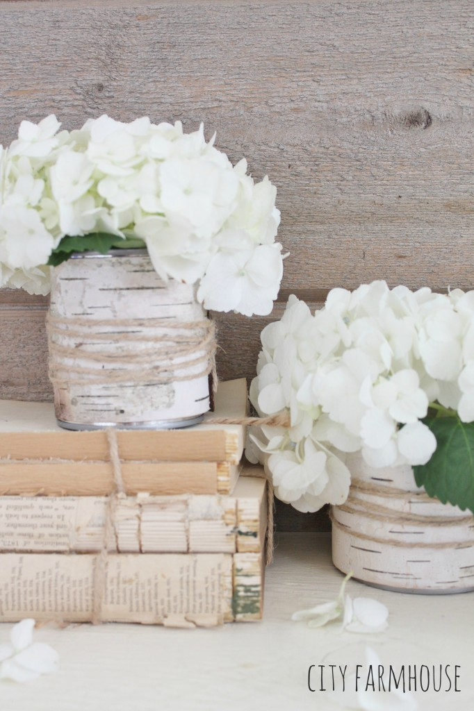 DIY Birch Flower Vases- Easy Entertaining Ideas-City Farmhouse