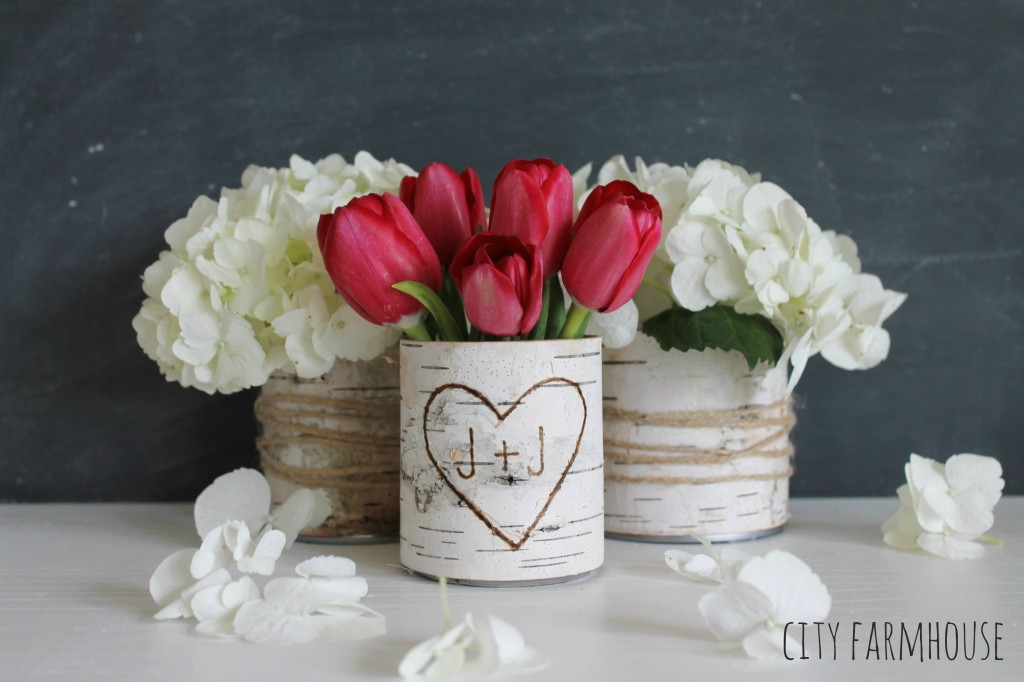 DIY Birch Flower Vases-Easy Spring Project-City Farmhouse