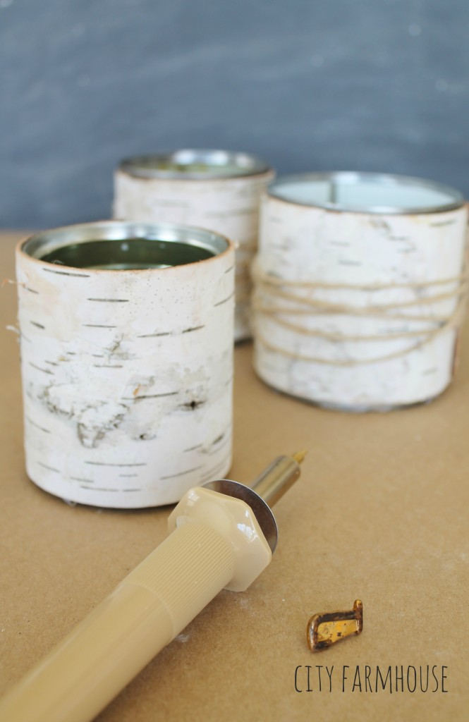 DIY Birch Flower Vases-Perfect for WEdding or Special Event-Burn Heart With Initals {city farmhouse}