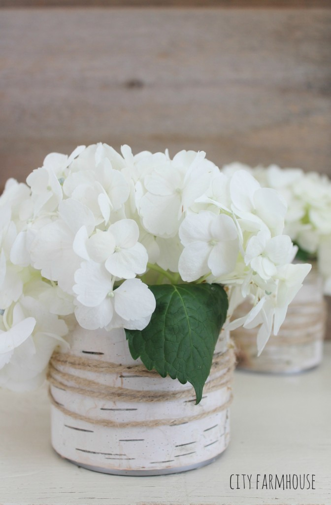 DIY Birch Flower Vases-Rustic Entertaining-City Farmhouse