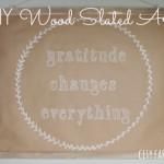 DIY Craft Paper & Wood Slat Art {For Under $10}