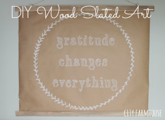 DIY Craft Paper & Wood Slat Art {For Under $10}