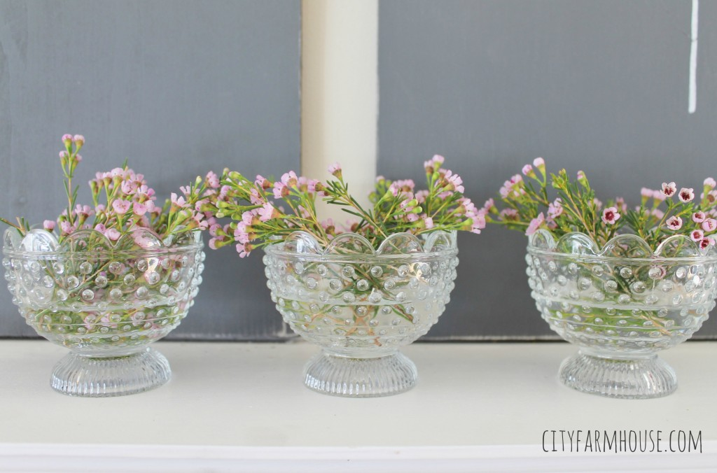 Seasons of Home-Easy Spring Decorating Ideas {City Farmhouse} Simple Mantle