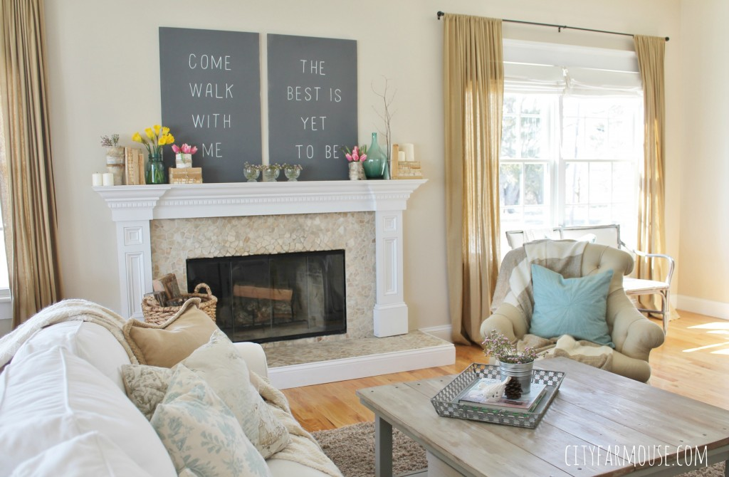Seasons of Home-Easy Spring Decorating Ideas {City Farmhouse} Touches of Nature