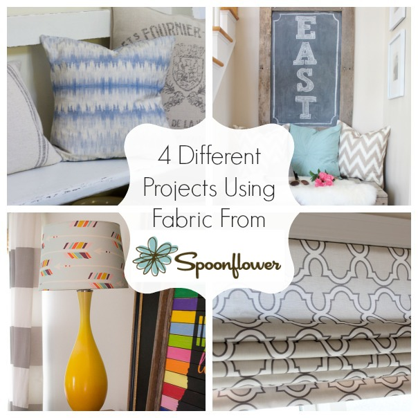 Four Different Projects Using Spoonflower Fabrics