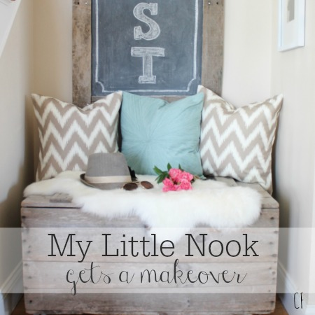 My Little Nook Gets A Makeover Using My Favorite Spoonflower Fabric