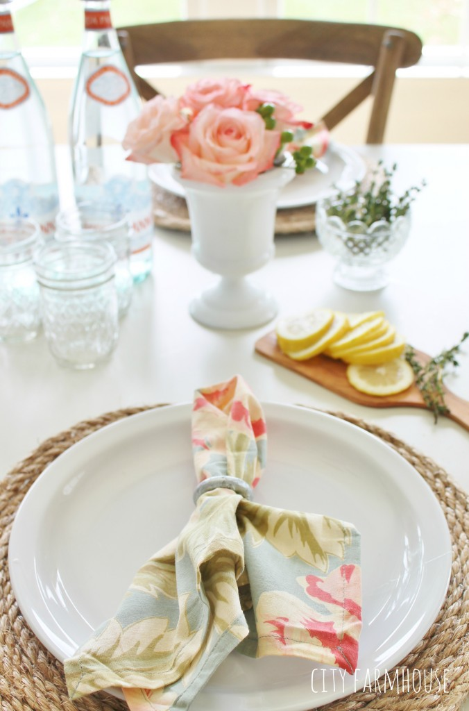Pottery Barn Inspired Jute Placemats & Napkin Rings From Loop Pulls