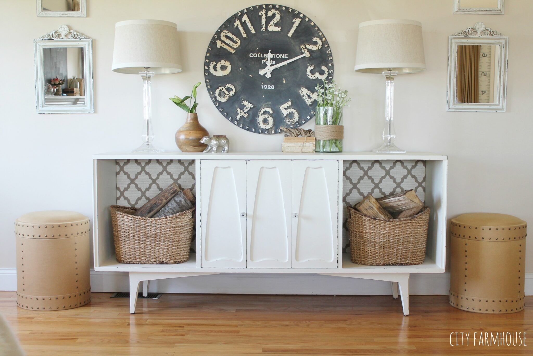 Vintage Mod Makeover Simple Easy Tips To Get A New Look For Less Adding Wall Decor Clock Gershwin Gertie