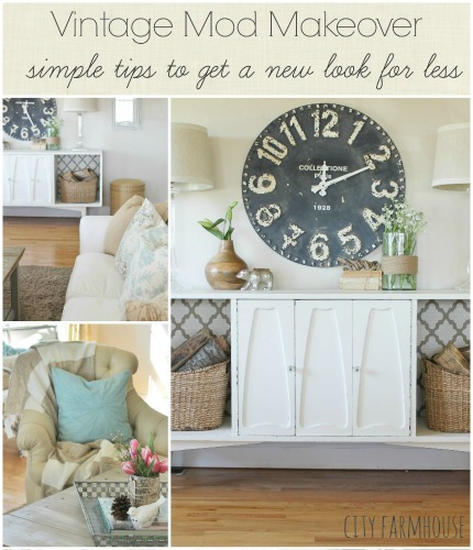 Vintage Mod Makeover-Simple Tips To Get A New Look For Less