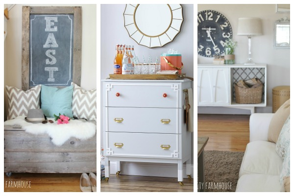 City Farmhouse Monthly Projects- Nook Makeover, Better Homes & Gardens Makeover Madness, Vintage Modern Makeover and Tips for Creating A New Look for Less