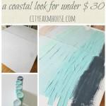 DIY Abstract Art-A Coastal Look For Under $30