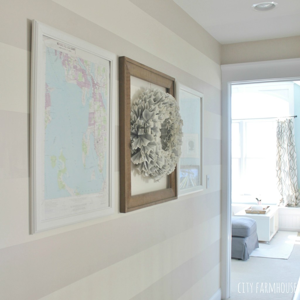 DIY Coastal Art-Use a map to create art fro your walls so simple & easy {City Farmhouse}