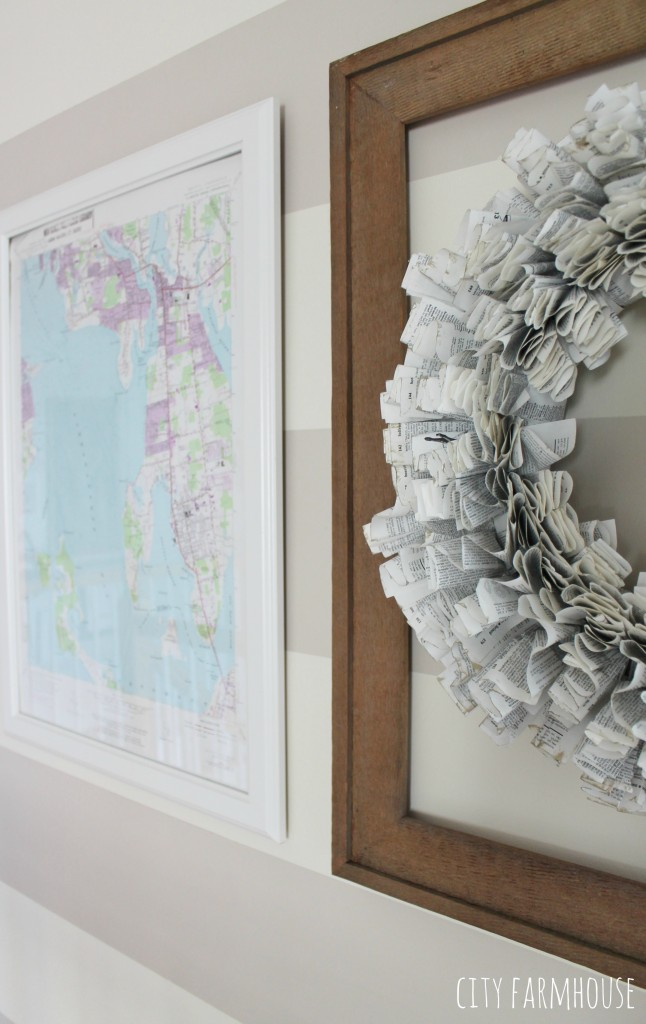 DIY Map Art- Fill your frames with maps for a coastal look {frames from an IKEA} City Farmhouse