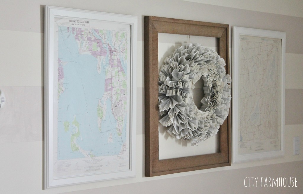 DIY Map Art- Give you walls a coastal look in 10 minutes {City Farmhouse}